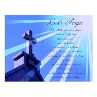 Lord's Prayer Design Postcard