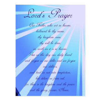 Lord's Prayer Design Postcard