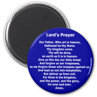 Lord's Prayer Magnet - Blue