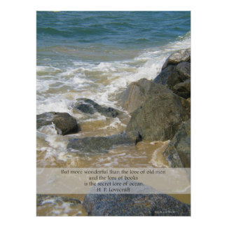 Lore of Ocean quote - Newport Beach scene Poster