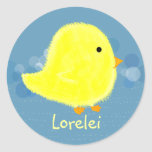 Lorelei Cute Baby Chick Sticker