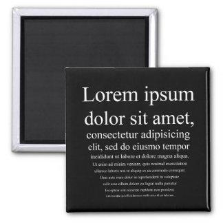 Lorem Ipsum Square Magnet