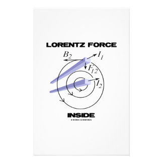 Lorentz Force Inside Electromagnetism Humor Personalized Stationery
