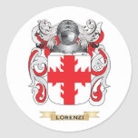 Lorenzi Coat of Arms (Family Crest) Round Sticker