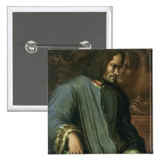 Lorenzo de Medici  'The Magnificent' 15 Cm Square Badge