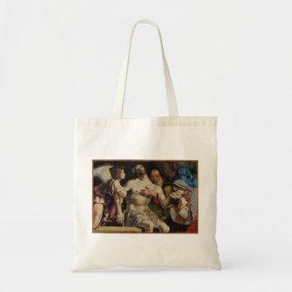 Lorenzo Lotto- Altar of Recanati polyptych Tote Bag