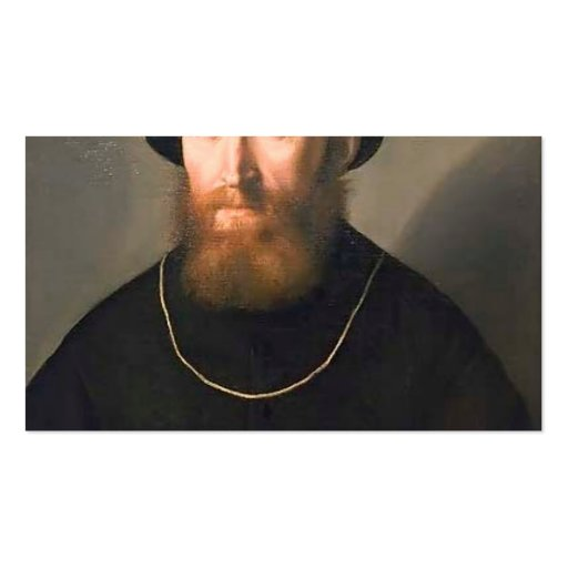 Lorenzo Lotto- Bust of a Bearded Man Business Card Template
