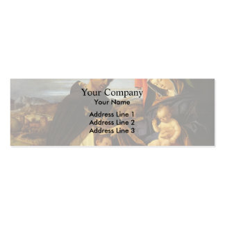 Lorenzo Lotto-Madonna Child with St Peter Martyr Business Card