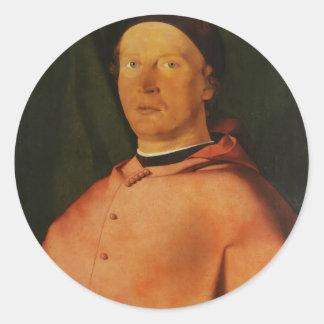 Lorenzo Lotto- Portrait of Bishop Bernardo Rossi Sticker