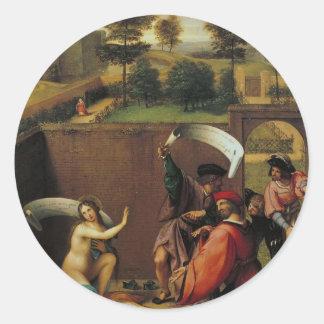 Lorenzo Lotto- Susanna and the Elders Sticker