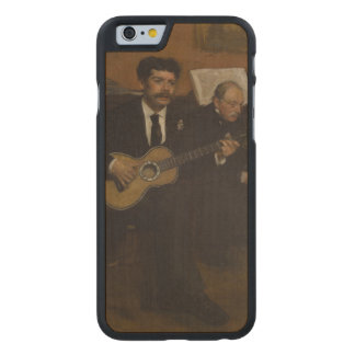 Lorenzo Pagans and Auguste de Gas by Edgar Degas Carved® Maple iPhone 6 Slim Case
