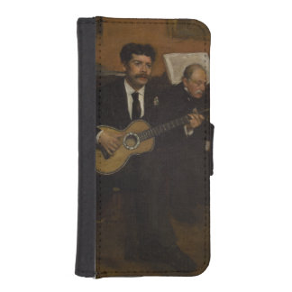 Lorenzo Pagans and Auguste de Gas by Edgar Degas Phone Wallet Cases