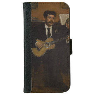 Lorenzo Pagans and Auguste de Gas by Edgar Degas iPhone 6 Wallet Case
