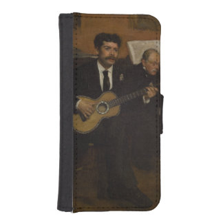 Lorenzo Pagans and Auguste de Gas by Edgar Degas Phone Wallet Case
