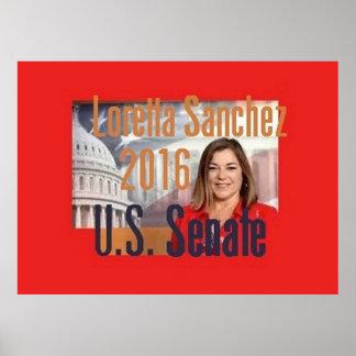 Loretta SANCHEZ Senate 2016 Poster
