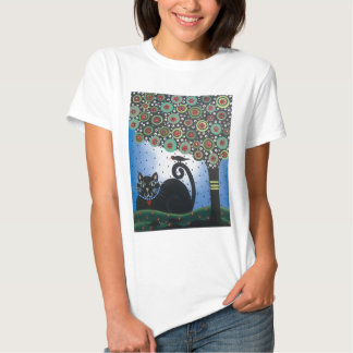 Lori Everett_ Day Of The Dead_ Black Cat_Mexican T Shirts