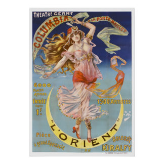 L'Orient Colorful Vintage Theater Advertisement Poster