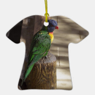 Lorikeet Double-Sided T-Shirt Ceramic Christmas Ornament