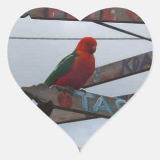 Lorikeet Heart Sticker