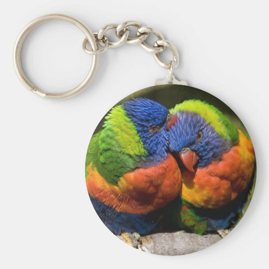 Lorikeets in Love Key Ring