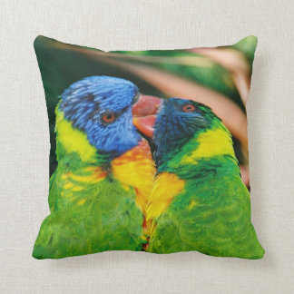 Lorikeets in Love Throw Pillow