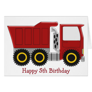 Lorry 5th Birthday Card
