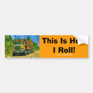 Lorry Driver Big Rig Heavy Trucker Art Car Bumper Sticker