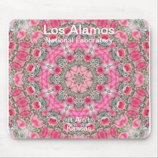 Los Alamos Baby's Breath and Pink Roses Star Field Mouse Pad