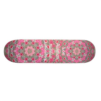 Los Alamos Baby's Breath and Pink Roses Star Field Skate Board Deck