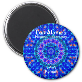 Los Alamos - Blue Lagoon of Liquid Shafts of Light 6 Cm Round Magnet
