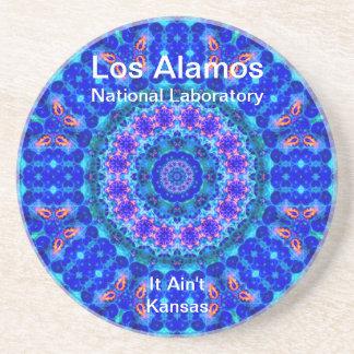 Los Alamos - Blue Lagoon of Liquid Shafts of Light Beverage Coasters