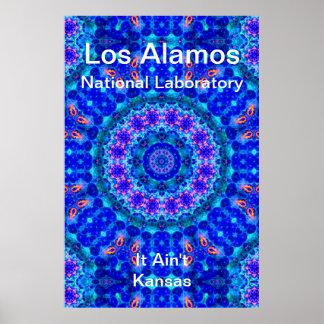 Los Alamos - Blue Lagoon of Liquid Shafts of Light Print
