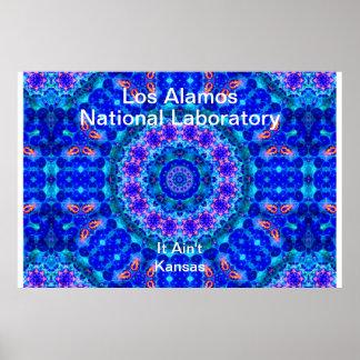 Los Alamos - Blue Lagoon of Liquid Shafts of Light Poster