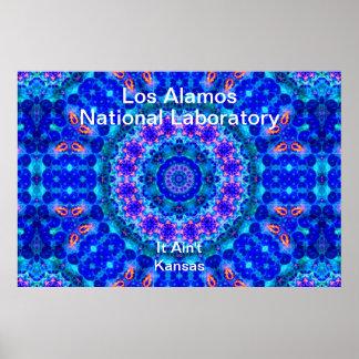 Los Alamos - Blue Lagoon of Liquid Shafts of Light Posters