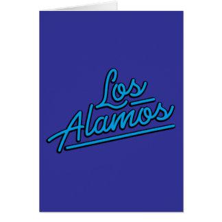 Los Alamos in cyan Greeting Card
