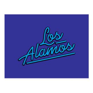 Los Alamos in cyan Postcards