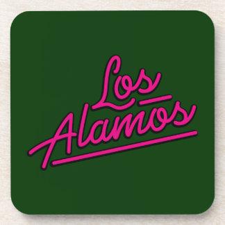 Los Alamos in magenta Beverage Coaster