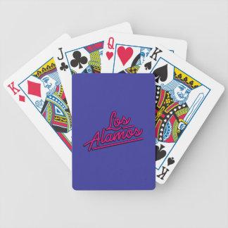Los Alamos in magenta Poker Deck