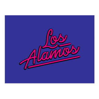 Los Alamos in magenta Postcard