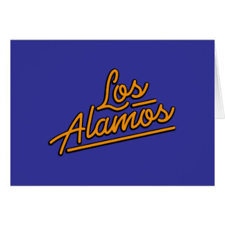 Los Alamos in orange Greeting Cards