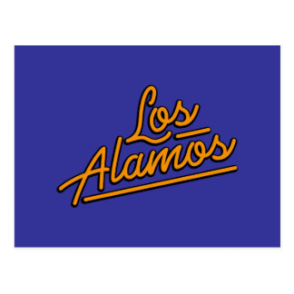 Los Alamos in orange Postcard
