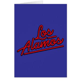 Los Alamos in red Greeting Card