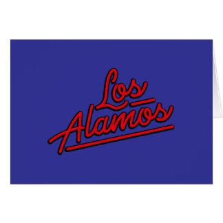 Los Alamos in red Greeting Cards