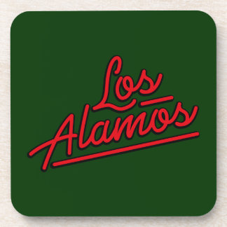 Los Alamos in red Drink Coaster