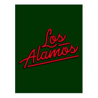 Los Alamos in red Postcard