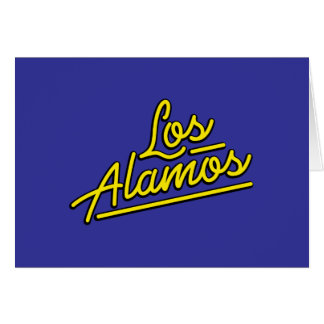 Los Alamos in yellow Cards
