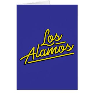 Los Alamos in yellow Greeting Card