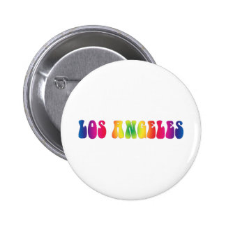Los Angeles 60's Tie Dye 6 Cm Round Badge