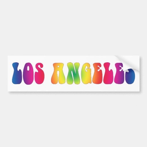 Los Angeles 60's Tie Dye Bumper Sticker