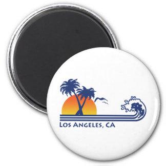 Los Angeles 6 Cm Round Magnet